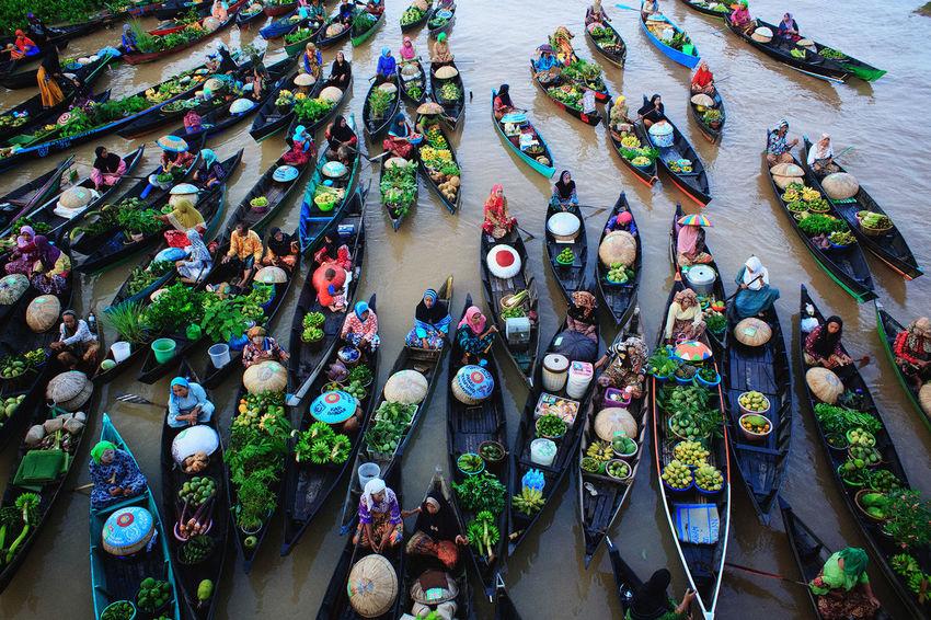 Floatingmarket Lokbaintan Banjarmasin Indonesia_photography Fotografi