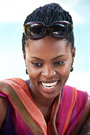 Beach Beautiful Woman Cheerful Close-up Day Focus On Foreground Front View Happiness Headshot Leisure Activity Lifestyles Looking At Camera Nature One Person One Young Woman Only Outdoors Portrait Real People Sky Smiling Sunlight Toothy Smile Vacations Young Adult Young Women