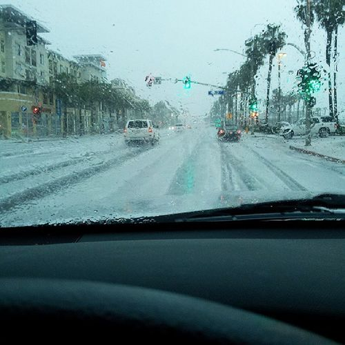 Huntington Beach rockin' a hail storm! Globalwhat