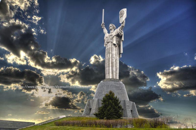 Mother #Motherland, #Kiev - #Ukraine Cloud - Sky Kyiv,Ukraine Monument Motherland No People Outdoors Sky Statue Travel Destinations Ukraine
