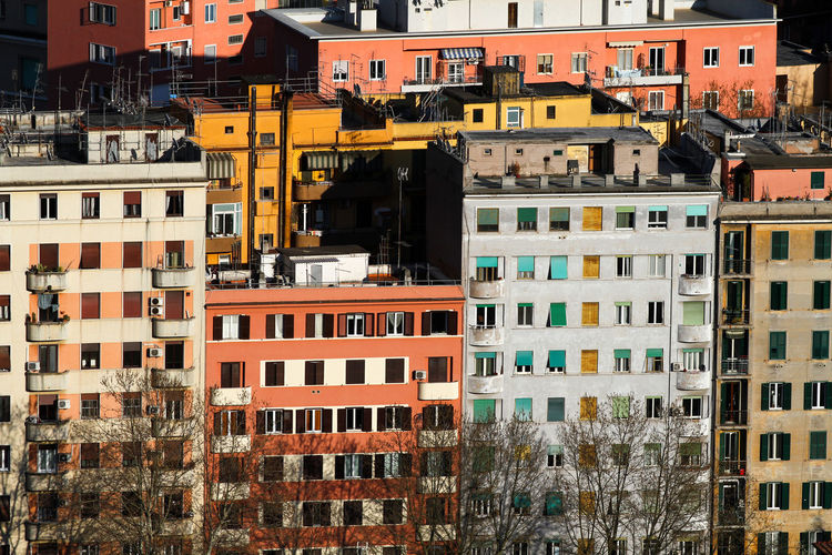 Prati district of rome, a row of popular buildings.