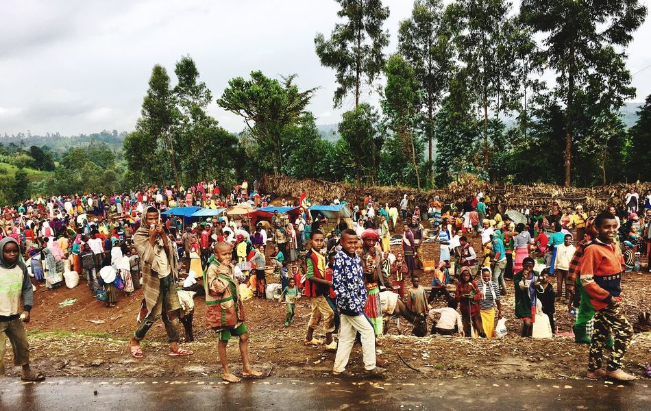 Ethiopia Large Group Of People Tree Real People Day Men Outdoors Crowd Leisure Activity Nature Sky Lifestyles Women Togetherness Adult People Ethiopian Photography 🇪🇹 Ethiopian Photography Africa Ethiopia