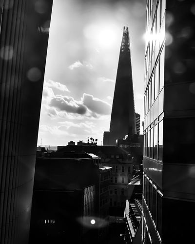 Views from dirty office windows Travel Photography Clouds Reflections Blackandwhite Bnw Mobilephotography ShotOnIphone IPhoneography United Kingdom Uk LONDON❤ London Shard Autumn Architecture Built Structure Building Exterior Sky Building City Cloud - Sky Nature No People Tall - High Tower Day Dusk Skyscraper Travel Destinations Sunlight