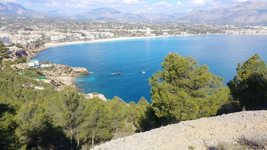 A sunny winter day Tranquility SPAIN Alicante Albir Landscape Lonely Nature Water Sea Mountain Day Scenics Beauty In Nature