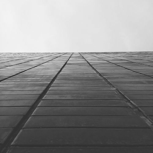 Wall to heaven Sky Tranquility Outdoors Wall Horizon Line Textures And Surfaces Blackandwhitephotography