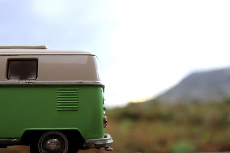 Close-up of vintage car on land
