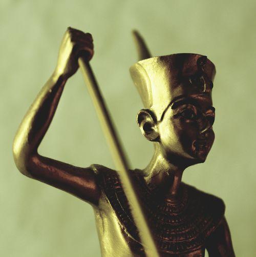 Close-up of bronze statue