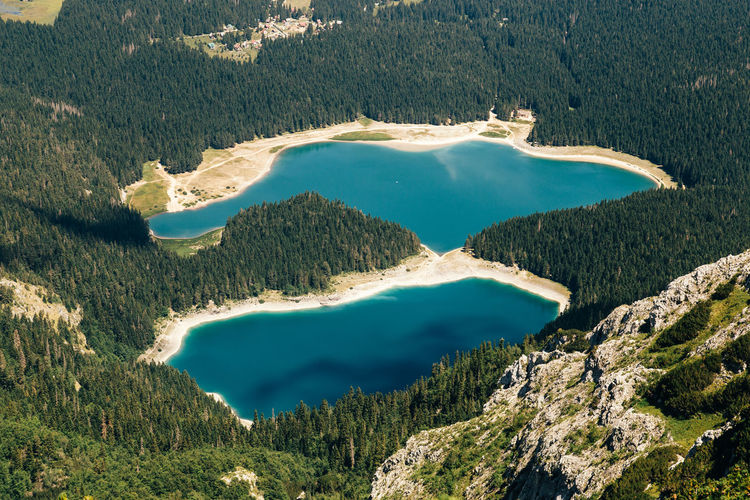 Black lake from above EyeEm EyeEm Best Shots EyeEm Nature Lover EyeEmNewHere Beauty In Nature Canon Forest High Angle View Landscape Montenegro Mountain Mountain Range Nature Outdoors Physical Geography Tranquility