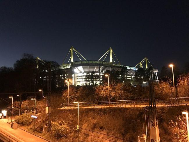 Signal Iduna Park Night Illuminated Sky Architecture Built Structure No People Boundary