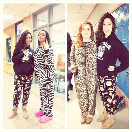 Today for pajama day at school. The sexiness is real.