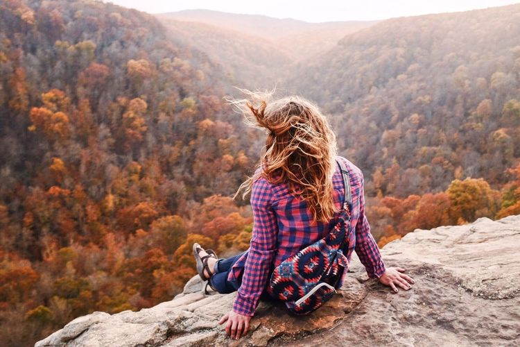Fall 2017 Autumn One Animal Mountain Nature Adult Dog Pets Tranquility Long Hair Sitting One Person Outdoors Adults Only Only Women Day Beauty In Nature Tranquil Scene Young Adult One Woman Only Women Fall Colors Foliage Nature Hike Explore The Great Outdoors - 2018 EyeEm Awards