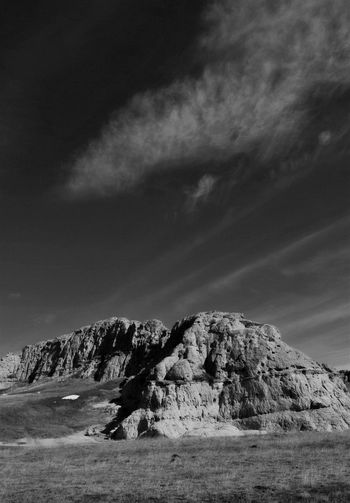 Black & white rock formation Beauty In Nature Day High Clouds Landscape Nature No People Outdoors Rock - Object Sky