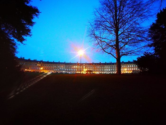 the Royal Crescent, Bath at Christmas Royal Crescent City Of Bath Christmas Tree Night Sky Illuminated Outdoors Blue No People Tree