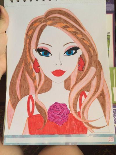 рисунок кукла карандаши фломастеры