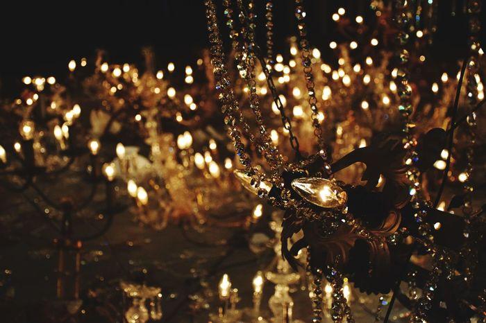 Illuminated Decoration Lighting Equipment No People Close-up Defocused Sheen MacHornu
