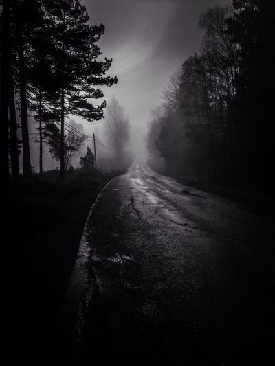 The road to nowhere Blackandwhite Mobilephotography MADE IN SWEDEN Bw_collection Vanishing Point