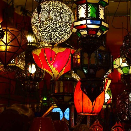Colours Of The Orient Lights Red Green Yellow Illuminated Lighting Equipment Somewhere In Paris Shop Illuminated Lighting Equipment Red No People Indoors  Night