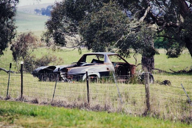 Canberra Goulburn Countryside Old Car