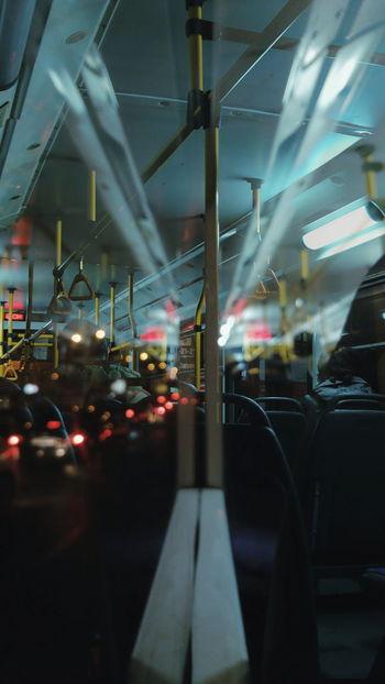 Dobleexposure EyeEm EyeEm Best Shots Night No People Outdoors Illuminated City Sky Transportation Mode Of Transport Public Transportation Train - Vehicle Indoors  EyeEm Ready   AI Now