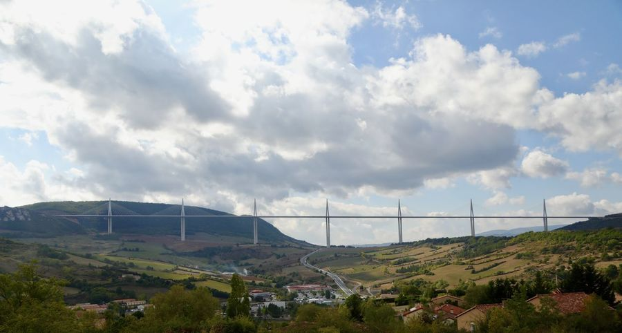 Viaduc De Millau Architecture Beauty In Nature Building Exterior Built Structure Cloud - Sky Day Landscape Mountain Nature No People Outdoors Road Scenics Sky Tree