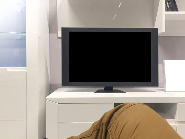 Copy Space Close-up Day Device Screen Domestic Life Flat Screen Home Interior Home Showcase Interior Human Body Part Human Hand Indoors  Liquid-crystal Display Living Room Technology Television Set