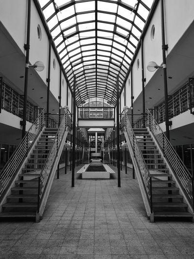 Lost Blackandwhite Stairs Windows Kadewe Parkhaus Shopping Charlottenburg  Berlin Charlottenburg  Light From Above HuaweiP9 Monochrome