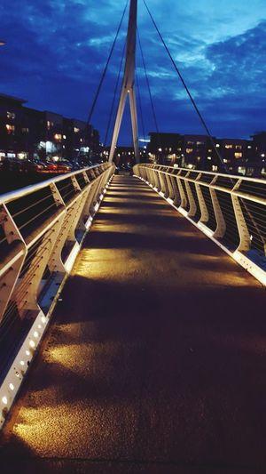 Bridge - Man Made Structure Night Outdoors No People Illuminated Architecture City Bridge Bridges Evening Evening Sky Evening Walk