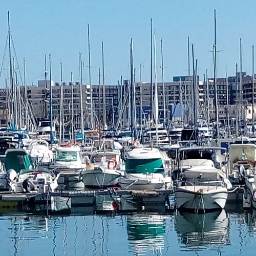 Nautical Vessel Moored Mast Sea Water Harbor Transportation Reflection Waterfront Travel Sailboat Outdoors Mode Of Transport Tranquility Sky No People Day Yacht Yachting