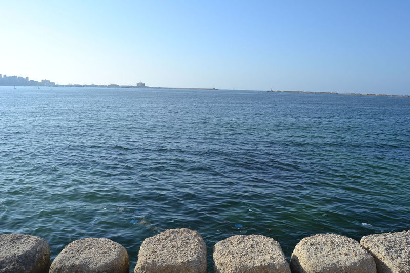 Alexandria Egypt Beauty In Nature Blue Clear Sky Day Love ♥ Nature No People Outdoors Photography Scenics Sea Sea And Sky Sea View Seascape Sky Stone Thisisegypt Tranquil Scene Tranquility Travel Destinations Water First Eyeem Photo