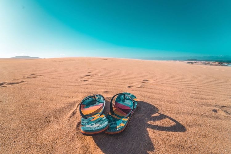 Amazing Sand Beach Sunlight Nature Pair Blue Landscape Shadow Vacations Summer Sand Dune Sky Day Outdoors Multi Colored No People Desert Beauty In Nature Clear Sky Sea