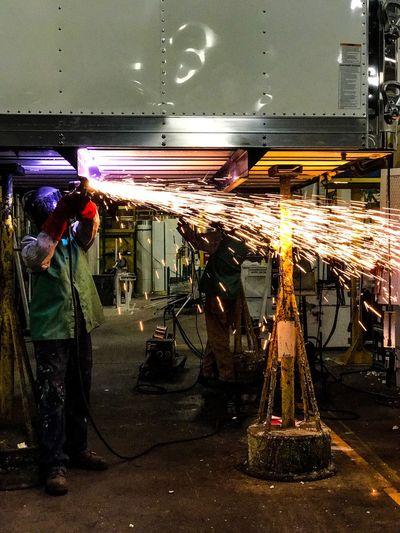 Fire Industrial Men Side View Person City Retail  Danger Welding