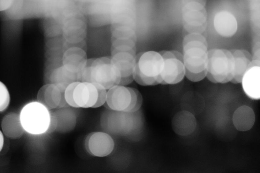 Defocused Illuminated Abstract No People Backgrounds Day Close-up Outdoors City Black & White Blackandwhite Black And White Eyeem Black And White Bookeh Bookeh Effect Bookehworld Bookphotography Photography Getty Premium Night ISO Focus Street Black And White Friday