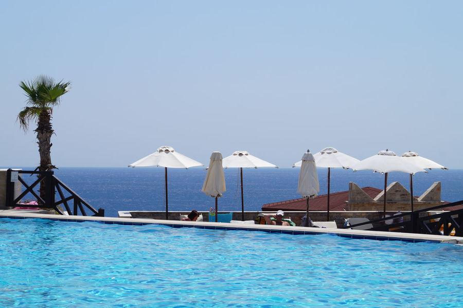 Agean Sea Greece Kalithea Pool Rhodes Rhodos Summer