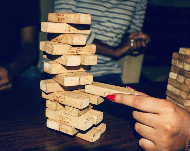 Jenga Game Jenga Jenga ♡ Jengatower Play Time 😉 Refreshment Coffee Shop Women Around The World EyeEmNewHere Investing In Quality Of Life