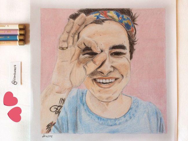 Indoors  Front View Facial Expression Drawing Art Kianlawley MyDrawing Smile
