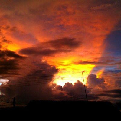 Achei linda essa imagem vista da porta da minha casa hoje no fim da tarde, não resisti e fotografei.