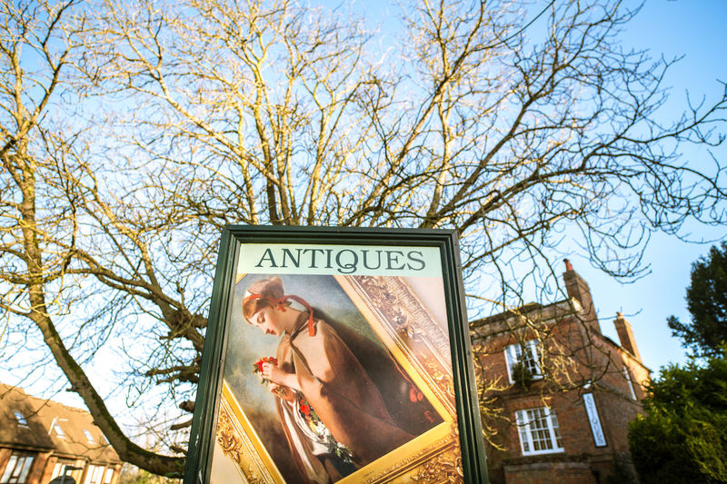 Hungerford Antiques, December 17 Afternoon Colourful Signs Sunlight Architecture Day England Hungerford Outdoors Scenic View Sky Text Tree Uk Wide Angle