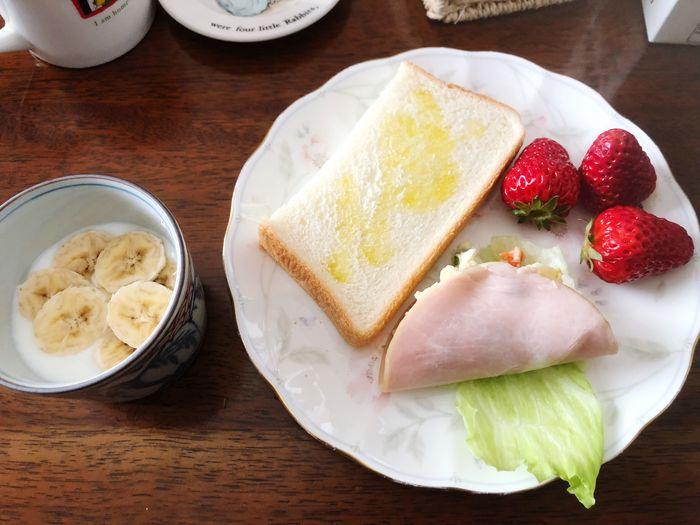 撮るな言われてやめたら、今日は撮らんかったねって笑_(:3 」∠)_ Goodmorning EyeEm  Goodmorning :) Good Morning Food And Drink Food Freshness Ready-to-eat