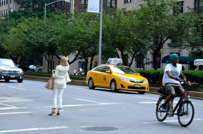 Cab Drivers Taxi Lady Bike Streetphotography Street Photography Street New York City New York Athleisure Who What Where What Who Where Embrace Urban Life