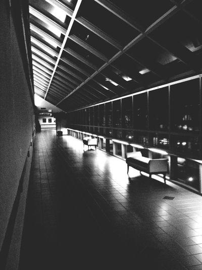 Hospital Blackandwhite Empty