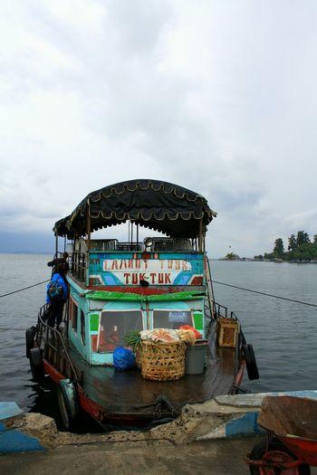 Hello World INDONESIA Toba Lake Traveling Starting A Trip Good Morning Boat