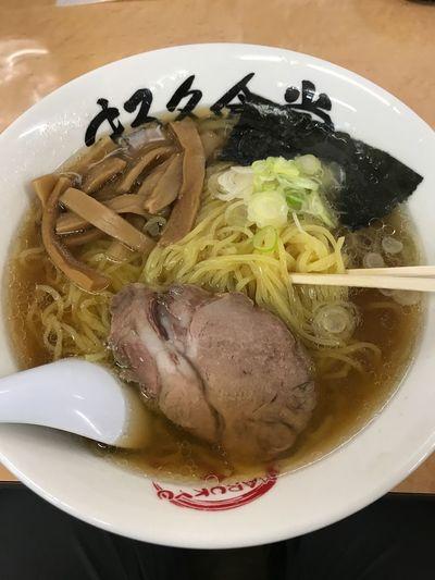 生姜ラーメン大盛り🍜 麺屋まる久食堂 生姜ラーメン Food And Drink Food Ready-to-eat Noodles Indoors  Serving Size Noodle Soup