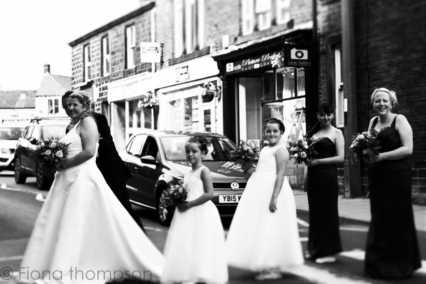Stopping the traffic Wedding Photography Wedding Bride And Groom Bridesmaids