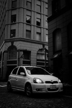 Blackandwhite Toyota Car