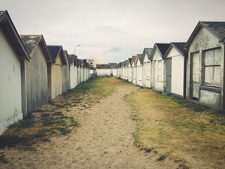 Eyeemphoto Beachphotography Beach Life Beach Photography Houses Normandie France Cabins  Nopeople Normandy Beach Huts