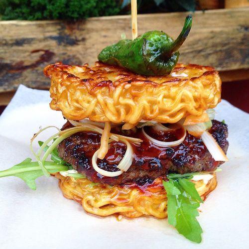 Food Porn Awards finally got my hands on some korean ramen burger!