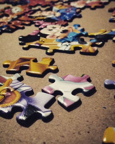 Multi Colored No People Close-up Indoors  Day Puzzle  Puzzle Pieces PuzzlePieces Tranquility Eyem Best Shot - My World Eye4photography  EyeEmBestPics Eye4photography  EyeEm Gallery Calm Non-urban Scene Leisure Activity DisneyMagic