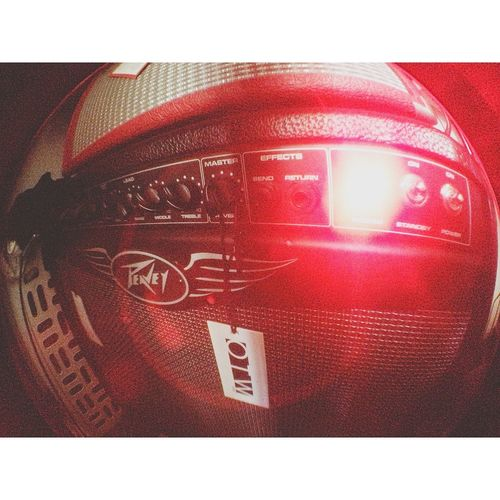 My one red-eyed monster. Peavey Otw Vans Hanging Out Guitar