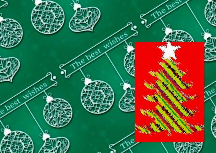Christmas postcard. Blackboard  Studio Shot Indoors  No People Digitalcomposition Digitalcollage Nadal Digitalcollageart Christmasart Digitalart  Navidad Christmaspostcards Christmas Card Digitalimage Postal Postales