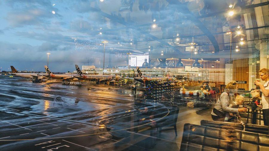 departure Airport Travel Rain Urban Rainy Season Airport Departure Area Airport Terminal